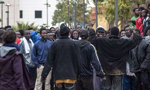 Nouvelle tentative d'entrée en force à Melilia de 600 migrants