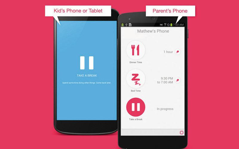 Une application pour bloquer le smartphone des enfants