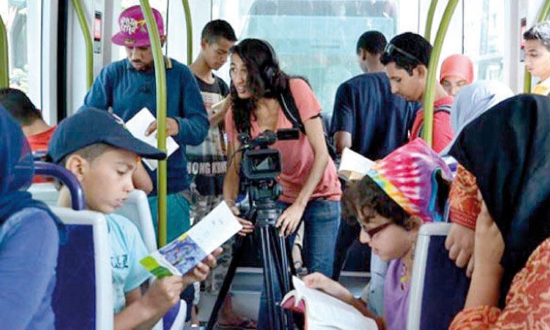 L'équipe des Jeunes leaders  marocains lance Bibliotram