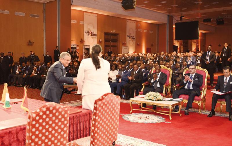 Maroc-Côte d'Ivoire: Une coopération ponctuée de plus  de 60 conventions