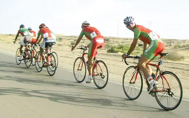 Cyclisme: Le Marocain Abdorabbih Hachimi conclut une tournée dans les principales villes de Jordanie