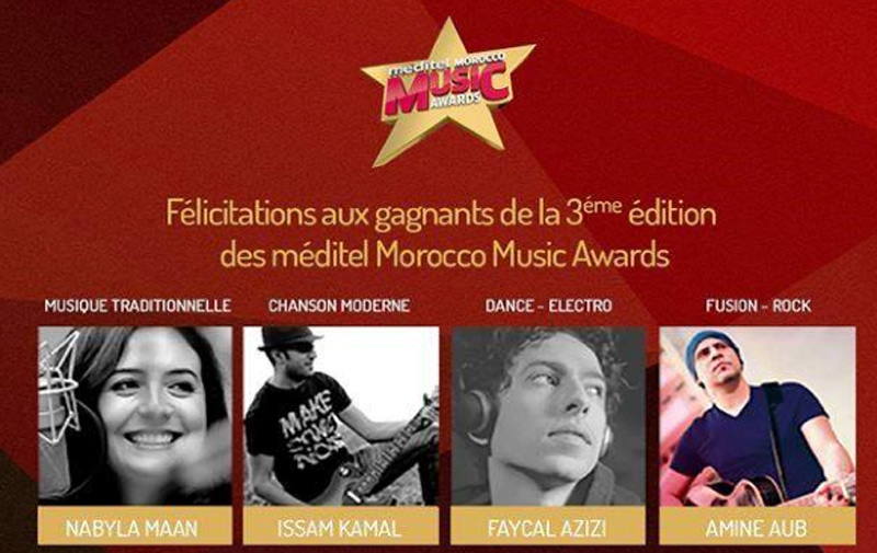 Méditel Morocco Music Awards récompense Nabila Maan, Issam Kamal et Five star
