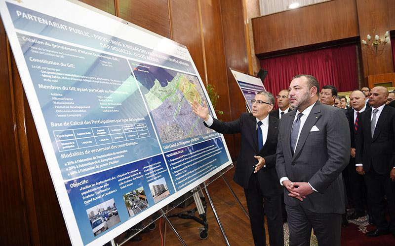 Casablanca : SM le Roi lance le programme de mise à niveau des axes routiers Errahma-Dar Bouâazza-Ouled Azzouz