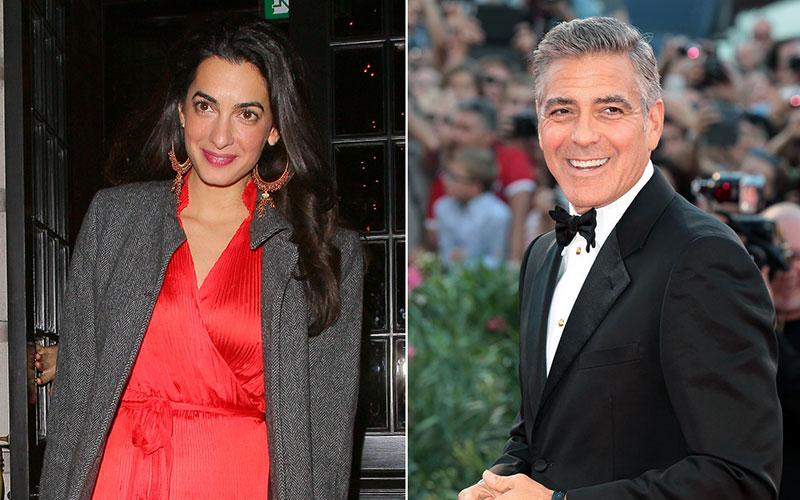 George Clooney dément la grossesse  d'Amal Alamuddin