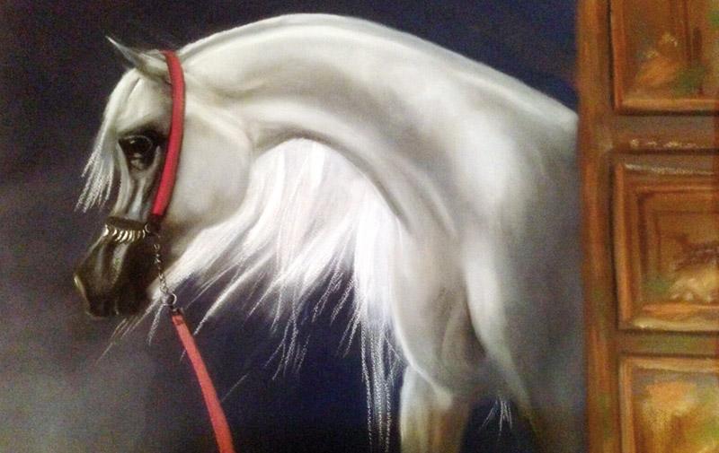 Exposition collective: Le cheval galope sur le pinceau  de Rachid Benabdellah à Sebta