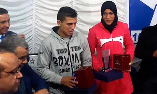 Mohamed Rabii et Khadija El-Mardi meilleurs sportifs de l'année 2015