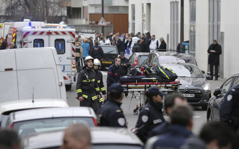 France: au moins 12 morts dans l'attentat contre Charlie Hebdo