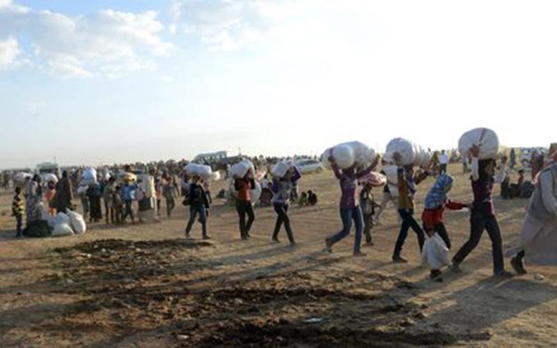 60.000 déplacés kurdes syriens arrivent en Turquie
