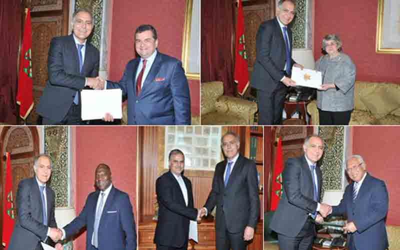 Mezouar reçoit les nouveaux Ambassadeurs de l'Iran, de la Turquie et  du Portugal