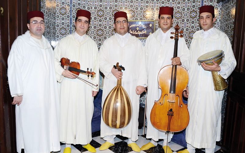 Spectacle avec l'Ensemble Andalussiat Al Assili à Rabat