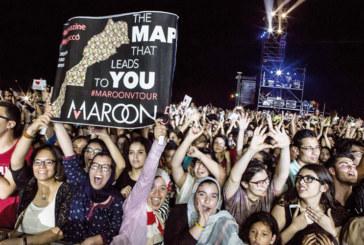 Maroon 5 «rock» l'OLM Souissi  en clôture