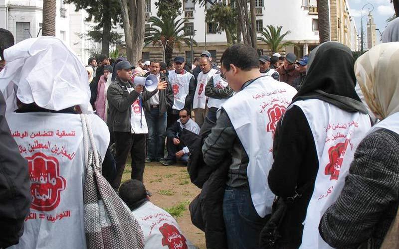 Rabat : Un groupe de chômeurs condamné à 16 mois de prison ferme