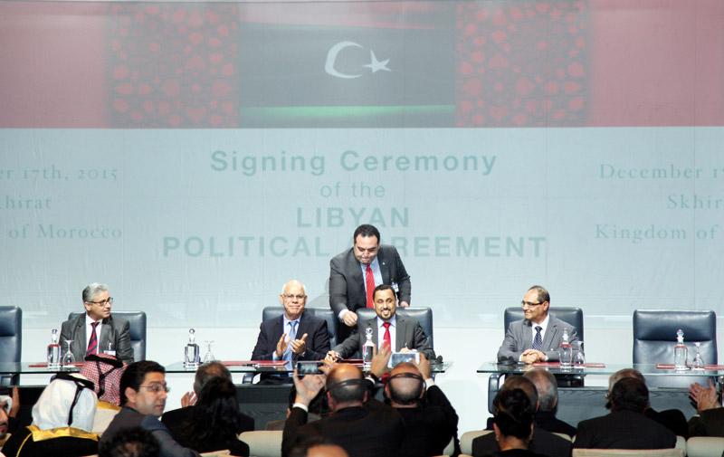 L'accord de Skhirat signé par les parties libyennes