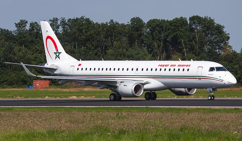 Royal Air Maroc :  Le 4ème avion Embraer E-190 est arrivé