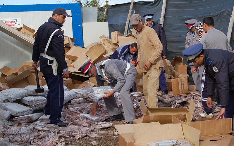 Saisie de près de 900 kg de chira au port de Tanger Med