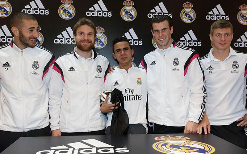 Marrakech : un concours de jongles pour les fans du Real Madrid