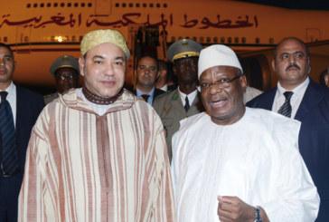 Message de remerciements de SM le Roi au président malien