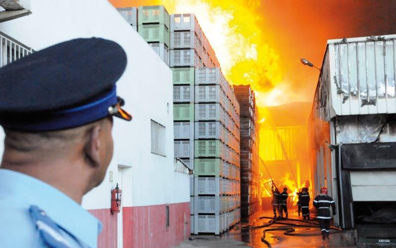 Un incendie fait d'importants dégâts dans une usine  à Casablanca