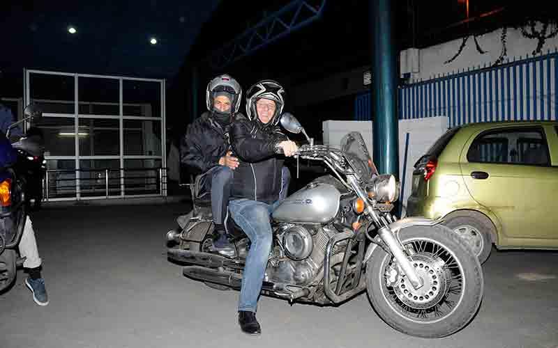 Tariq Ramadan en moto