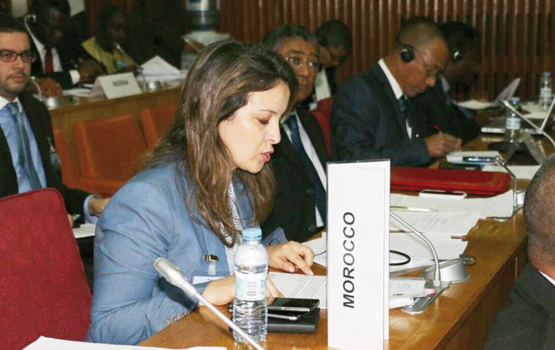 Charafat  Afilal au  Cap-Vert pour le sommet de l'Amcomet