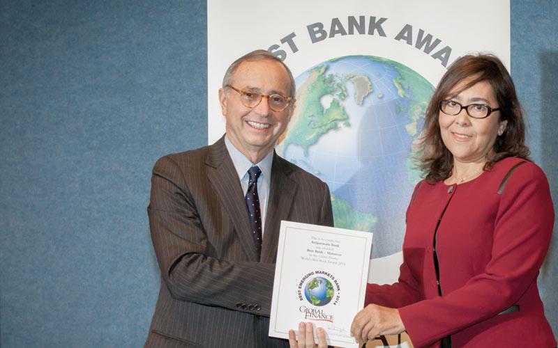 Attijariwafa bank désignée meilleure banque marocaine  en 2014