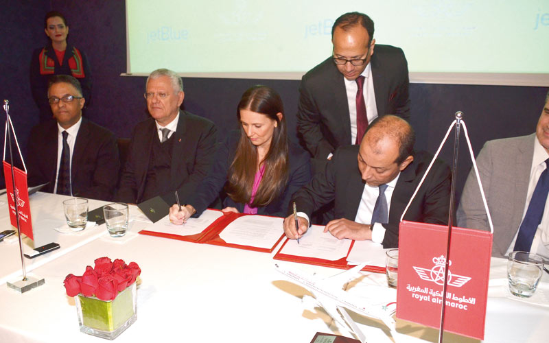 Royal Air Maroc étend son réseau aux Etats-Unis: Signature d'un accord entre la compagnie nationale et JetBlue