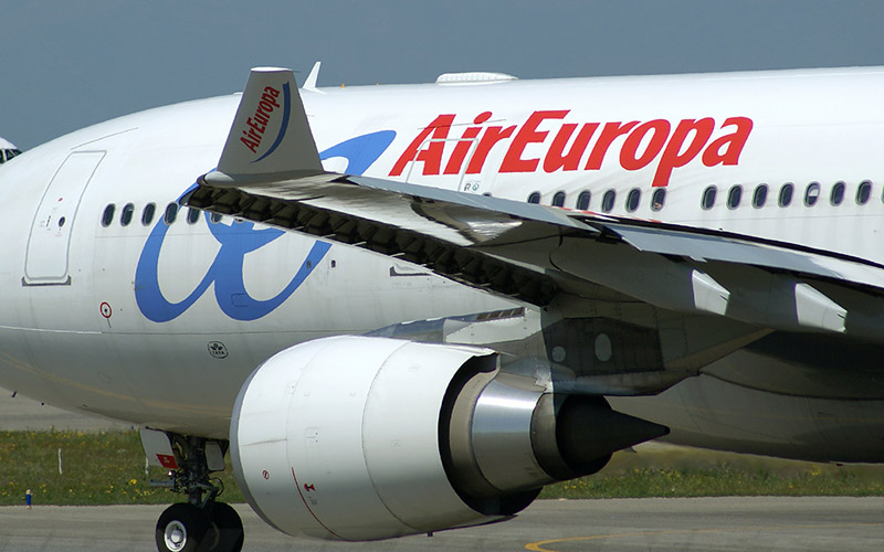 Air Europa lie Ouarzazate à Madrid