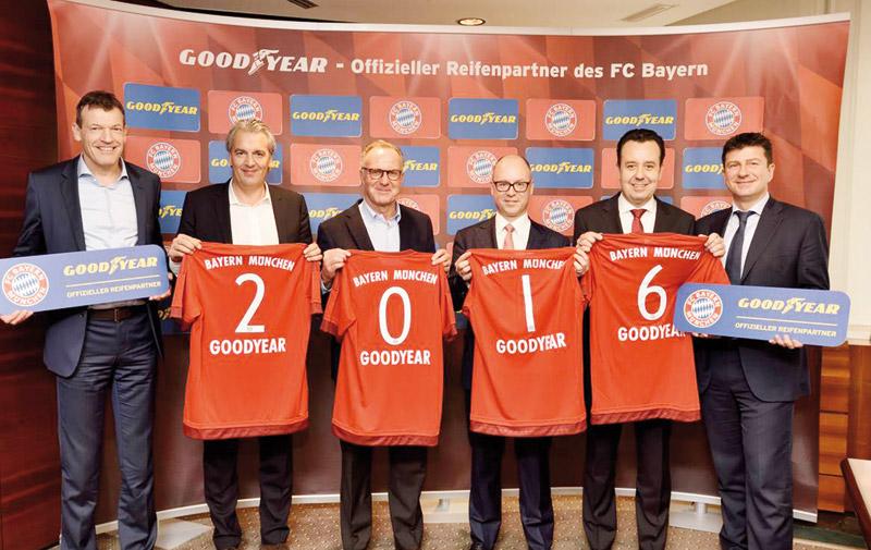 Partenariat: Goodyear signe avec le FC Bayern de Munich