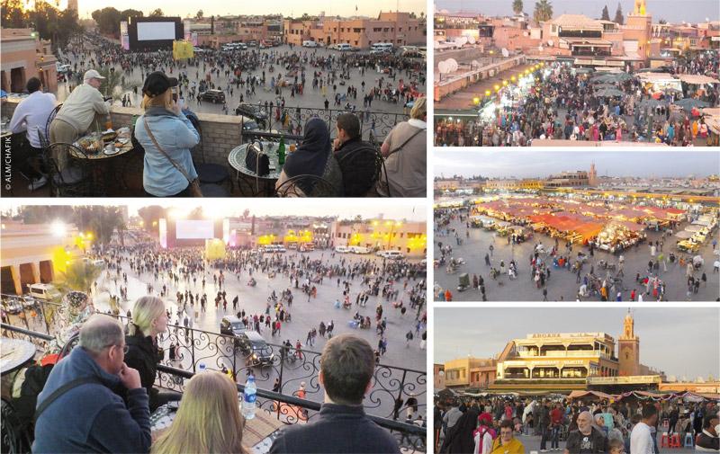 Projection en plein air des films du FIFM: Quand les badauds de Jamaâ El Fna  s'intéressent au cinéma