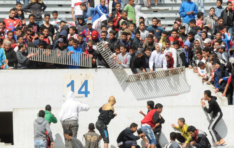 Neuf hooligans interpelés après le match Hassania d'Agadir Vs  Wydad