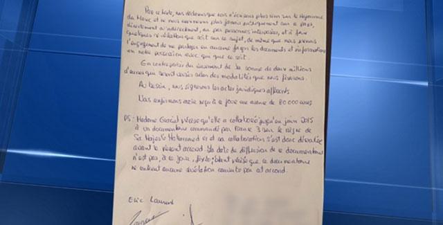 Une lettre contractuelle accablant Eric Laurent et Catherine Graciet diffusée sur BFM TV