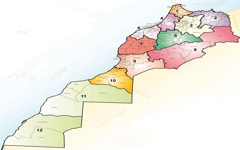 Radioscopie  des douze nouvelles  régions