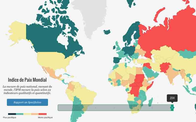 Indice mondial de la Paix 2014: Le Maroc en tête des pays du Maghreb