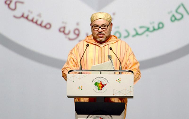 Le Roi invite les pays africains à adopter une approche «intégrée» pour bâtir une coopération «étroite» avec l'Inde