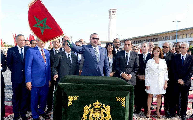 SM le Roi lance les travaux de réalisation du Grand Théâtre de Casablanca