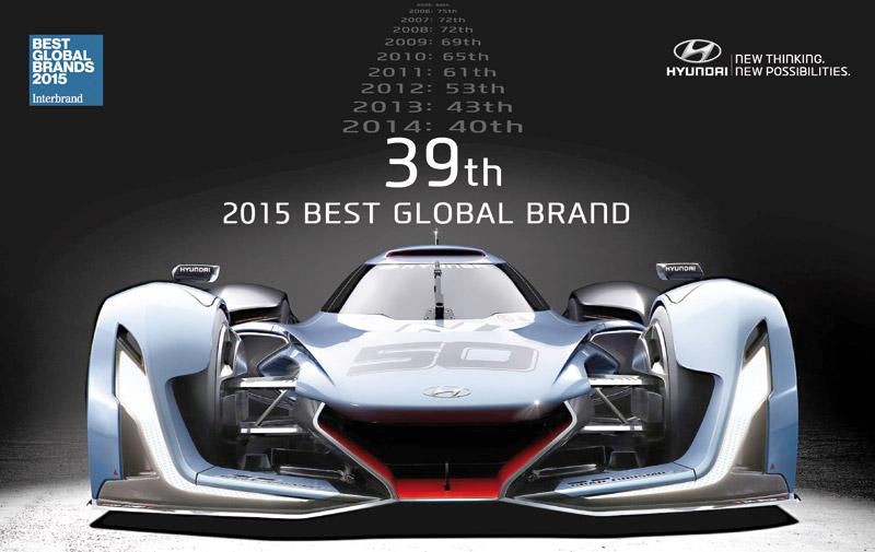 Hyundai au top 40 des meilleures marques mondiales