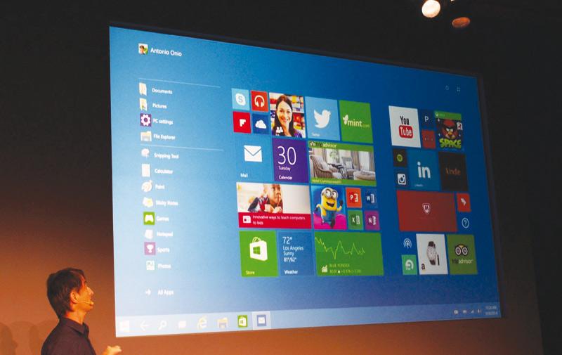 Windows 10 disponible avec une mise à jour gratuite