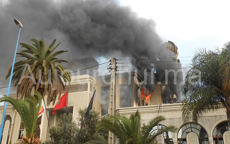 Incendie au siège du groupe Addoha à Aïn Sebaâ