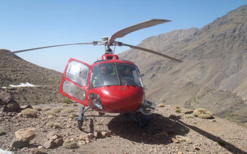 Intempéries: évacuation de cinq personnes par hélicoptère à Guelmim