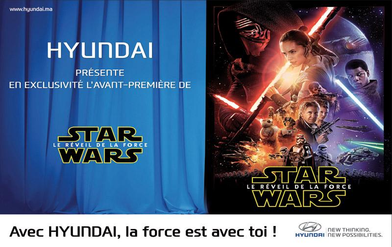 Hyundai projette Star Wars: La Force est… avec les aficionados !