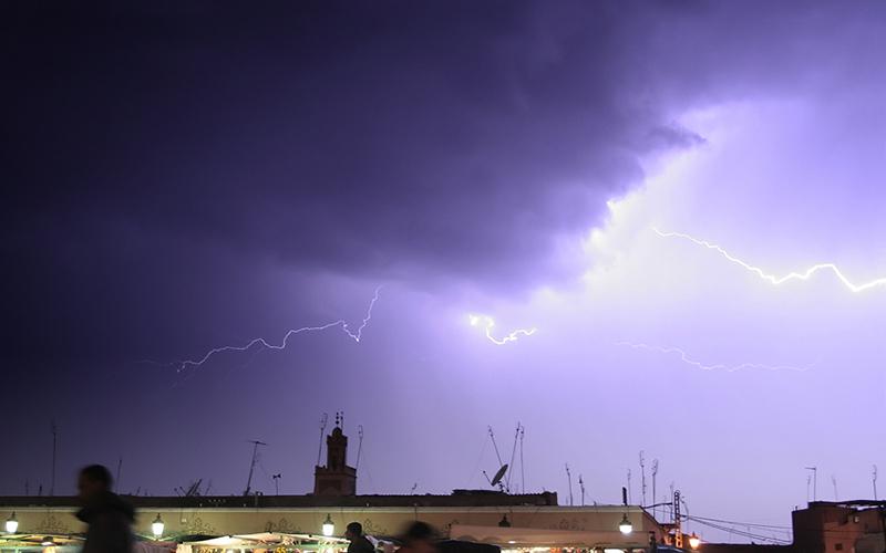 Alerte aux fortes averses orageuses au Maroc