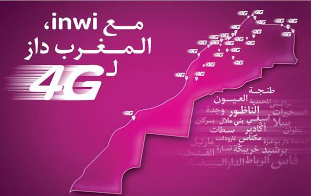 4G de Inwi: Plus de 21 villes couvertes depuis le 17 juin