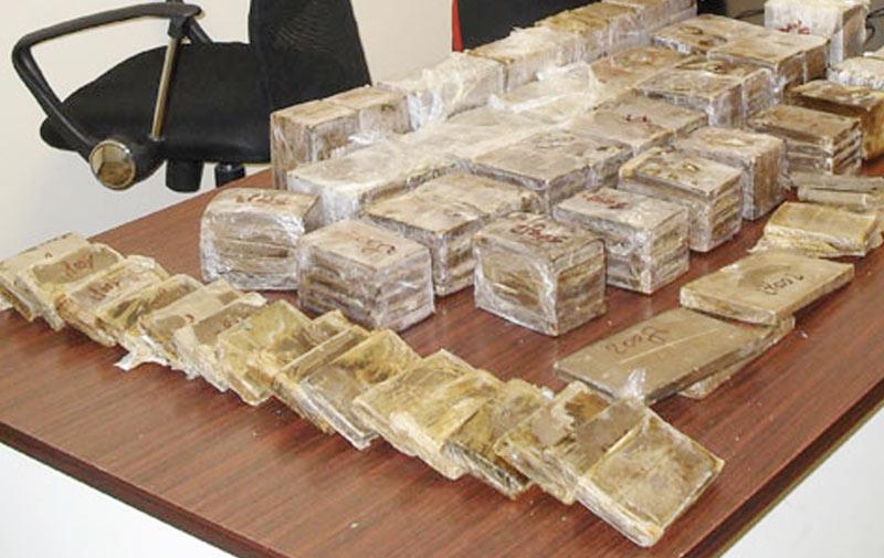 Saisie à Nador de 76 kg de résine de cannabis