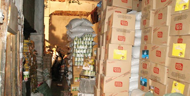Salé : Saisie et destruction d'une grande quantité de produits alimentaires avariées