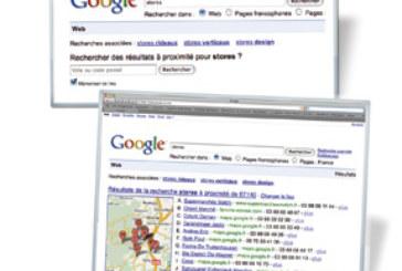 Google propose de localiser certaines requêtes