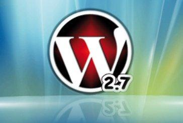 WordPress 2.7 est disponible