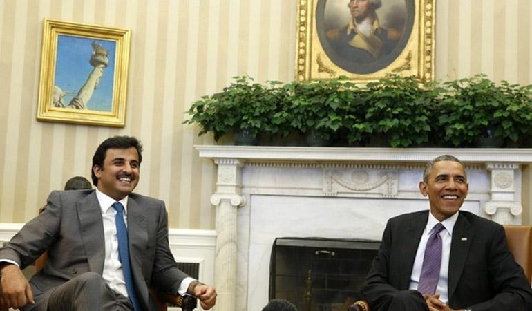 Obama reçoit l'émir du Qatar