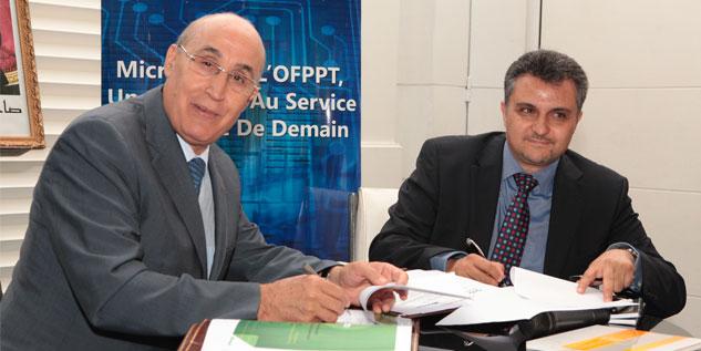Convention entre l'OFPPT et Microsoft pour le lancement d'un portail d'employabilité
