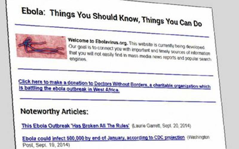 Le nom de domaine «Ebola.com» mis en vente à 150 000 dollars !