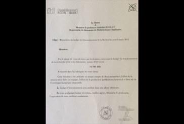 Un budget de moins de 35.000 DH pour  la recherche à l'Université Mohammed V Agdal-Rabat